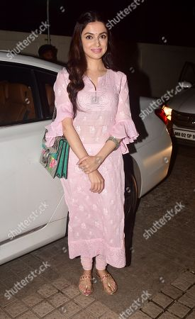 Stock Image of Divya Khosla Kumar attends the special screening of film 'Fanney Khan' at PVR cinema, Juhu in Mumbai.