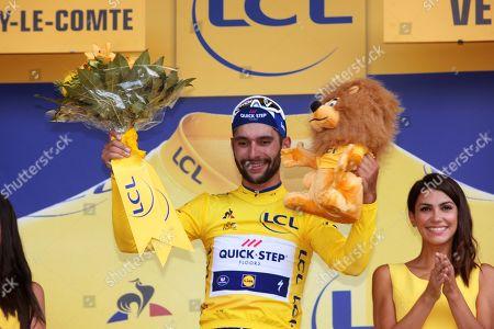 The final moments on Tour De France, Fontenay le Comte 201kms 1st Fernando Gaviria (Col) 2nd Peter Sagan, 3rd Marcel Kittel, 4th Alexander Kristoff, 5th Laporte 6th Groenewegen