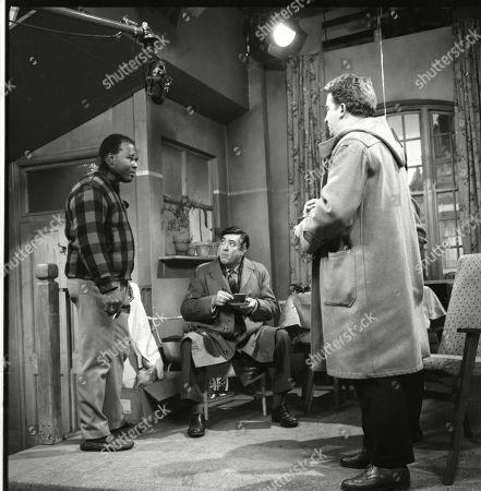 Stock Image of Thomas Baptiste (as Johnny Alexander), Ivan Beavis (as Harry Hewitt) and Peter Adamson (as Len Fairclough)