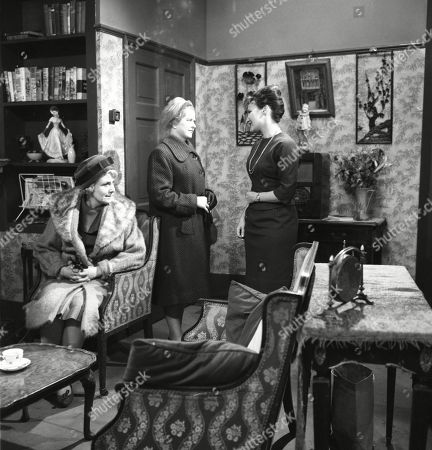 Betty Alberge (as Florrie Lindley), Daphne Oxenford (as Esther Hayes) and Pat Phoenix (as Elsie Tanner)