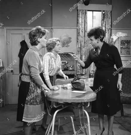Christine Hargreaves (as Christine Appleby) Daphne Oxenford (as Esther Hayes) and Pat Phoenix (as Elsie Tanner)