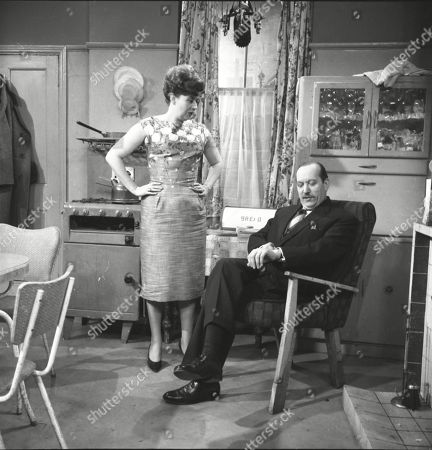 Pat Phoenix (as Elsie Tanner) and Campbell Singer (as Edwin Mason)
