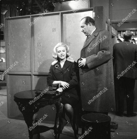 Judy Cornwell (as Georgina) and Campbell Singer (as Edwin Mason)