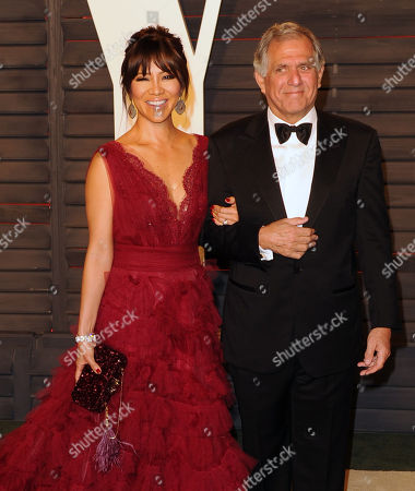 Stock Picture of Leslie Moonves and Julie Chen arrive at the Vanity Fair Oscar party in 2016. Leslie Moonves is currently facing sexual misconduct allegations as of July 2018.