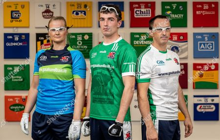 Stock Picture of Pictured at today's launch is (L-R) Reigning Handball World Champion Aisling Reilly, Martin Mulkerrins, Team Ireland captain and Reigning Handball World Champion Paul Brady