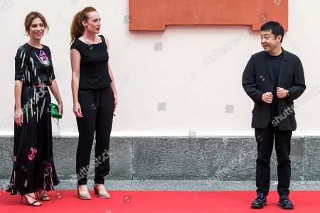 Members of the Concorso internazionale jury (L-R) Italian actress and playwright Isabella Ragonese, Italian-Austrian filmmaker Tizza Covi and Chinese filmmaker Jia Zhang-ke pose during a photocall at the 71st Locarno International Film Festival, in Locarno, Switzerland, 01 August 2018. The Festival del film Locarno 2018 runs from 01 to 11 August.