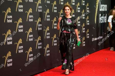Italian actress and playwright Isabella Ragonese poses on the red carpet during the official opening of  the 71st Locarno International Film Festival, in Locarno, Switzerland, 01 August 2018. The Festival del film Locarno 2018 runs from 01 to 11 August.