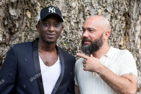French actor Ahmed Sylla (L) and French director Vianney Lebasque pose during a photocall for the film 'Les Beaux Esprits' at the 71st Locarno International Film Festival, in Locarno, Switzerland, 01 August 2018. The Festival del film Locarno 2018 runs from 01 to 11 August.
