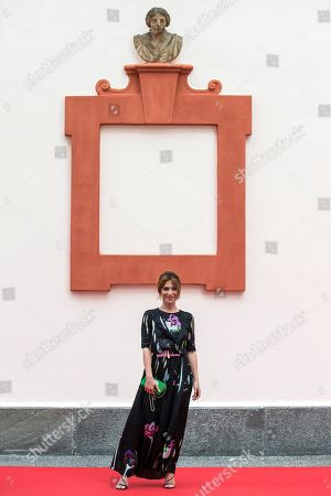 Stock Picture of Isabella Ragonese, Italian actress and playwright and member of the Concorso internazionale Jury, poses during a photocall at the 71st Locarno International Film Festival, in Locarno, Switzerland, 01 August 2018. The Festival del film Locarno 2018 runs from 01 to 11 August.