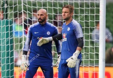 Chelsea goalkeepers Robert Green and Wilfredo Caballero