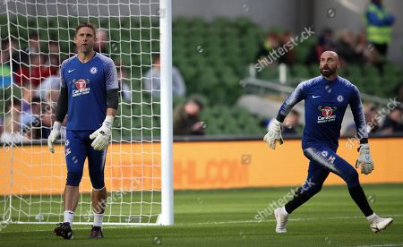 Chelsea goalkeepers Wilfredo Caballero  and Robert Green