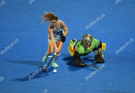 Editorial photo of Australia v Argentina, Vitality 2018 Hockey Women's World Cup - Quarter-FInals, Lee Valley Hockey and Tennis Centre, London, UK - 01 Aug 2018
