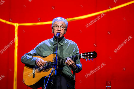 Brazilian popular singer and composer Caetano Veloso performs with his three sons Zeca, Tom and Moreno during a concert at Coliseu dos Recreios in Lisbon, Portugal, 01 August 2018.