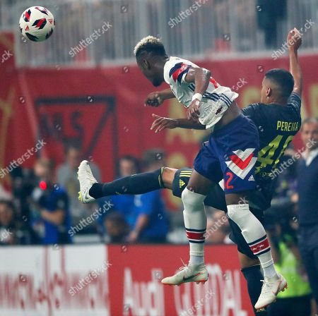 MLS All-Star defender Michael Amir Murillo (62) competes against Juventus midfielder Matheus Pereira (40) during the the first half of the MLS All-Star soccer match, in Atlanta