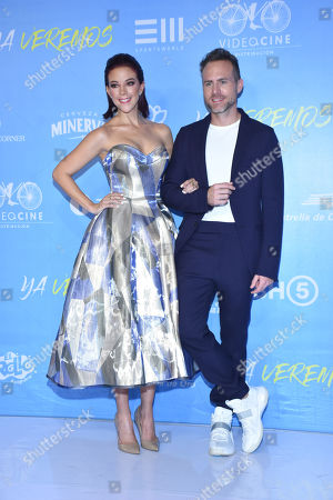 Fernanda Castillo, Erik Hayser during the red carpet of 'Ya Veremos' film premiere at Cinemex Antara on July 31, 2018 in Mexico City, Mexico