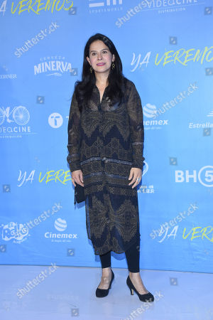 Stock Photo of Arcelia Ramirez during the red carpet of 'Ya Veremos' film premiere at Cinemex Antara on July 31, 2018 in Mexico City, Mexico