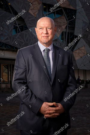 National Trust of Australia CEO Simon Ambrose poses for a photograph after speaking to the media about the nomination of Federation Square to the Victorian register in Melbourne, Victoria, Australia, 01 August 2018. The National Trust of Australia's Victorian division nominated the CBD landmark for the Victorian Heritage Register to recognise its 'historical, architectural, aesthetic and social significance to the state.'