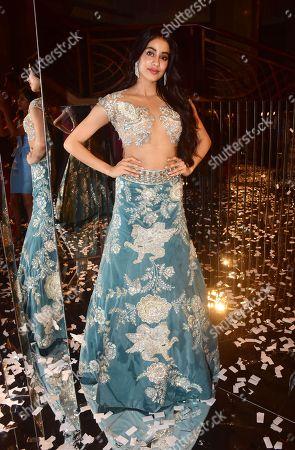 Indian film actress Janhvi Kapoor attend the designer Manish Malhotra's Haute Couture 2018 fashion show at hotel JW Marriott, Juhu in Mumbai.