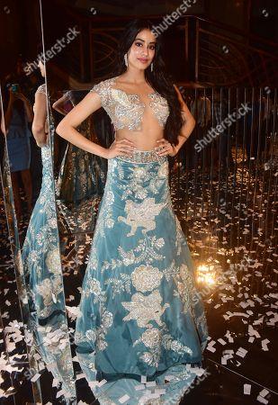 Indian film actress Janhvi Kapoor attend the designer Manish Malhotra's Haute Couture 2018 fashion show
