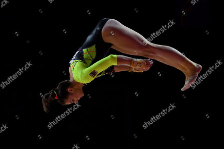 Pauline Schaefer of Germany competes  in the qualification for the Women's Apparatus Finals of the Glasgow 2018 European Artistic Gymnastics Championships, Glasgow, Britain, 02 August 2018.