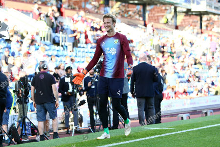 Anders Lindegaard of Burnley gestures