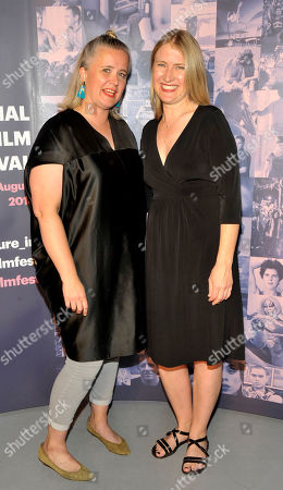 Sarah Williams (Chair of the board of GAZE)and Joanna Werner, producer of opening film Riot. Pictured at the opening night of the GAZE Film Festival in Light House Cinema