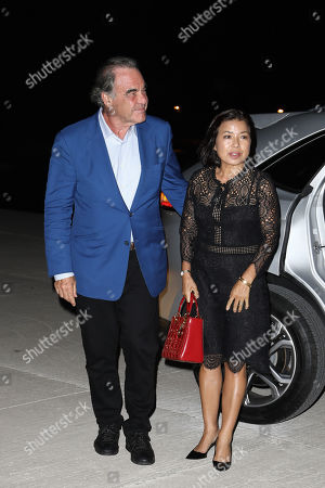 Stock Image of Oliver Stone with his wife Sun-jung Jung