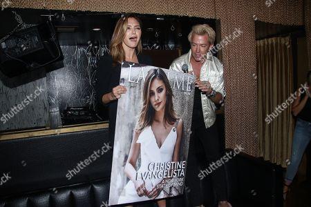 Stock Photo of Christine Evangelista and Derek Warburton