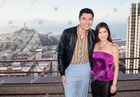 Henry Golding and Kristi Yamaguchi