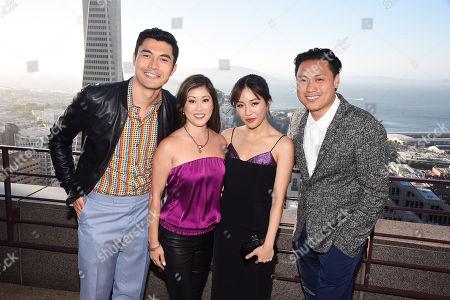 Henry Golding, Kristi Yamaguchi, Constance Wu and Jon M. Chu