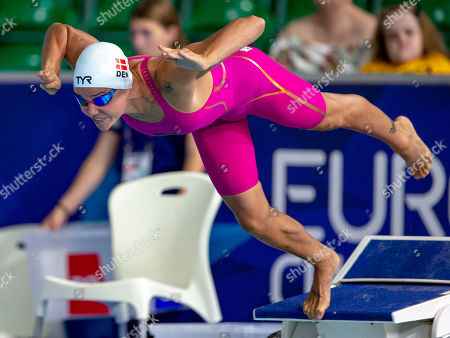 Pernille Blume of Denmark competes in the women's 50m Freestyle Heats at the Glasgow 2018 European Swimming Championships, Glasgow, Britain, 03 August 2018.