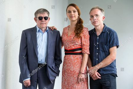 Members of the Concorso Cineasti del presente Jury (L-R) Andrei Ujica, Romanian screenwriter and director, Laetitia Dosch, French actress, and Ben Rivers, British filmmaker pose during a photocall at the 71st Locarno International Film Festival, in Locarno, Switzerland, 03 August 2018. The Festival del film Locarno 2018 runs from 01 to 11 August.