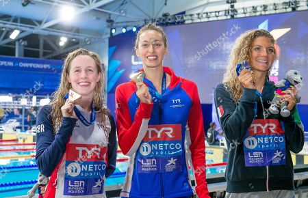 Great Britain's Hannah Miley takes bronze in the Womens 400m Individual Medley final with France's Fantine Lessafre taking Gold and Italy's Ilyara Cusinato taking Silver.