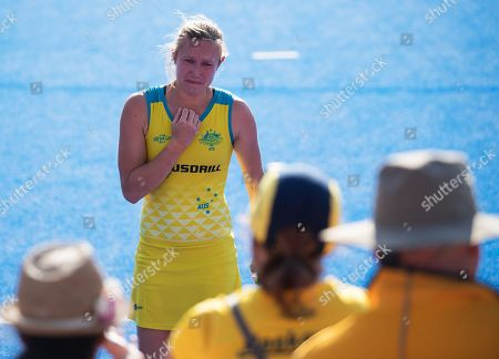 Renee Taylor in tears as Australia lose to Netherlands in the Hockey Womens World Cup semi-final