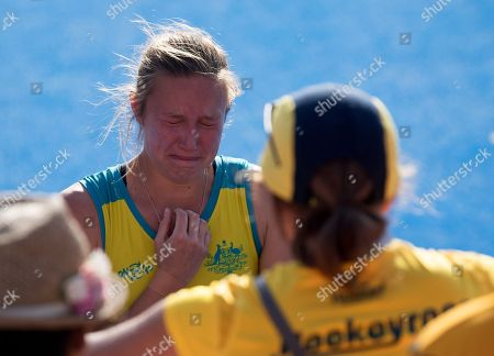Renee Taylor in tears as Australia lose to the Netherlands