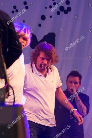 The Charlatans and Frightened Rabbit perform a Frightened Rabbit song in tribute to the late Scott Hutchison, lead singer of Frightened Rabbit - Tim Burgess, Grant Hutchison and Billy Kennedy