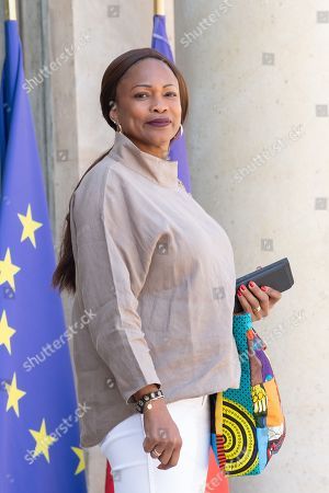 French Sports Minister Laura Flessel leaves after the weekly cabinet meeting at the Elysee Palace