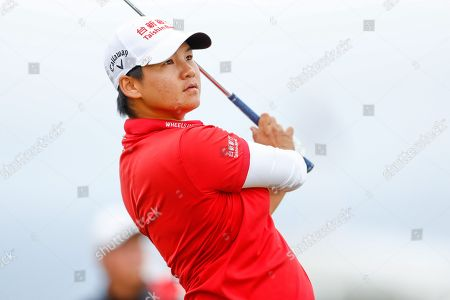 Stock Image of Yani Tseng tees off  during the Ricoh Women's British Open golf tournament at Royal Lytham and St Annes Golf Club, Lytham Saint Annes. Picture by Simon Davies