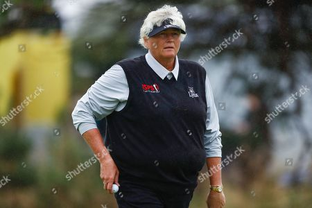 Laura Davies  during the Ricoh Women's British Open golf tournament at Royal Lytham and St Annes Golf Club, Lytham Saint Annes. Picture by Simon Davies