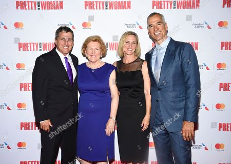 "Scott Marshall, Barbara Marshall, Kathleen Marshall, Jerry Mitchell. Scott Marshall, left, Barbara Marshall, Kathleen Marshall and director Jerry Mitchell attend a Garry Marshall tribute performance of ""Pretty Woman: The Musical"" at The Nederlander Theatre, in New York"