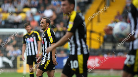 David Vaughan in action on his first start for Notts County