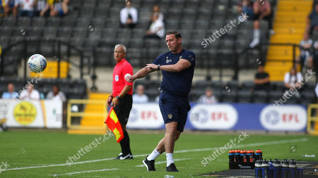 Kevin Nolan shows hes still got it by volleying the ball back to his player for a throw in