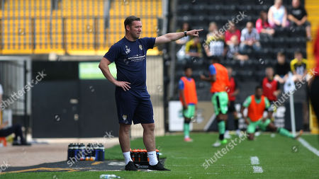 Notts manager Kevin Nolan issues instructions from the sidelines