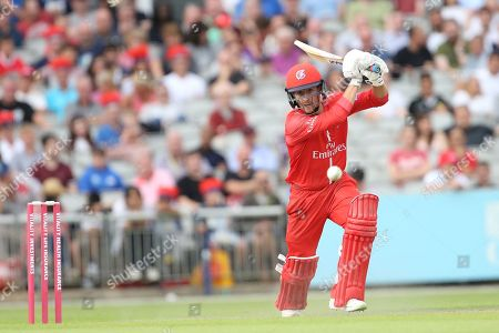 Lancashires Karl Brown during the Vitality T20 Blast North Group match between Lancashire Lightning and Leicestershire Foxes at the Emirates, Old Trafford, Manchester. Picture by George Franks