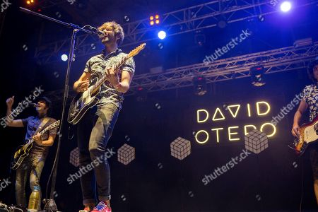 Stock Picture of Spanish singer David Otero performs on stage during the Arenal Sound Festival's second day of concerts at the Arenal beach stage in Burriana, Castellon, eastern Spain, 03 August 2018.