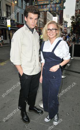 Luke Newton and Sophie Simnett