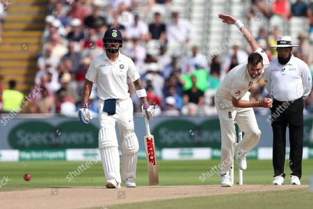 Editorial picture of England v India, First Specsavers Test Match, Day Four, Edgbaston, Birmingham - 4 August 2018