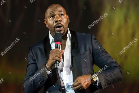 American director Antoine Fuqua speaks on stage during the 71st Locarno International Film Festival, Saturday, August 4, 2018, in Locarno, Switzerland. The Festival del film Locarno runs from 1 to 11 August.