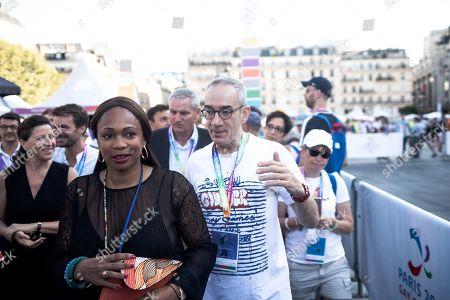 Laura Flessel (Ministre des Sports), Agnes Buzyn (Ministre de la Sante) Manuel Picaud (co-president des Gay Games Paris).