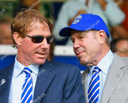 Stock Image of Eric and Michael Lerner, the owners of Portsmouth Football Club during Portsmouth vs Luton Town, Sky Bet EFL League 1 Football at Fratton Park on 4th August 2018